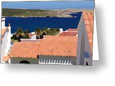 Terracotta Roof Views Greeting Card