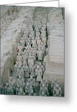 Terracotta Warriors In Xian In China Greeting Card