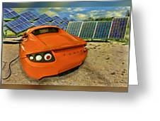 Tesla Car Greeting Card