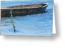 Tethered Boat......... Greeting Card