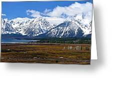 Teton 2012 Panorama Le Greeting Card