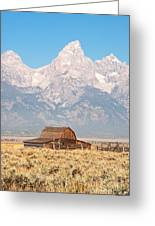 Teton Mormon Barn Greeting Card