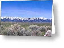 Teton National Park Panarama Greeting Card
