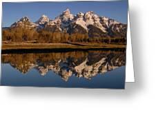 Teton Range, Grand Teton National Park Greeting Card by Pete Oxford