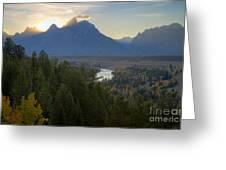 Teton Sunset Greeting Card