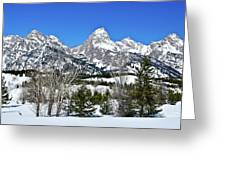 Teton Winter Landscape Greeting Card