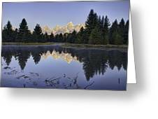 Tetons Over The Beaver Pond Greeting Card