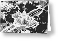 Texas Capitol Bw3 Greeting Card