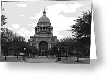 Texas Capitol Bw6 Greeting Card