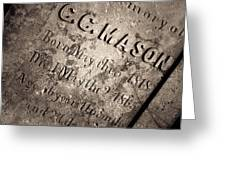 Tcm - C.c. Mason Grave Greeting Card