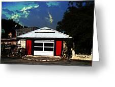 Texas Garage Greeting Card