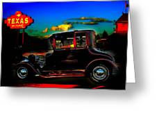Texas Hot Rod Greeting Card