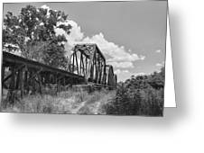 Texas Railroad Bridge Greeting Card