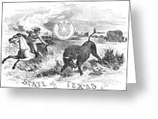 Texas Scene, 1855 Greeting Card