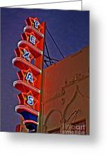 Texas Theater Restored Greeting Card by Gib Martinez