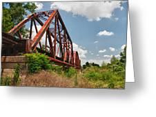 Texas Train Trestle 13984c Greeting Card