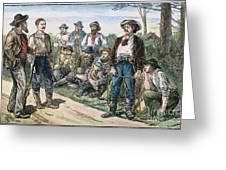 Texas Vigilantes, C1881 Greeting Card