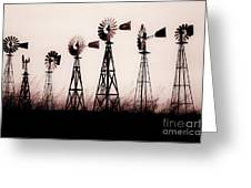 Texas Windmills Greeting Card by Tamyra Ayles