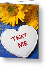 Text Me Greeting Card