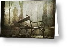 Textured Bench Greeting Card by Bernard Jaubert