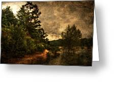 Textured Lake Greeting Card