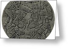 Tezcatlipoca And Huitzilopochtli Greeting Card by Photo Researchers