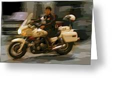 Thai Motorbike Police Greeting Card by Kantilal Patel