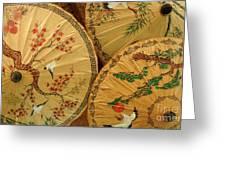 Thai Umbrellas 2 Greeting Card