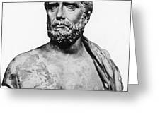 Thales, Ancient Greek Philosopher Greeting Card by Science Source