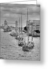 Thames Barges Tower Bridge 2012 Greeting Card