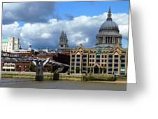 Thames River Panorama Greeting Card