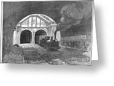 Thames Tunnel: Train, 1869 Greeting Card