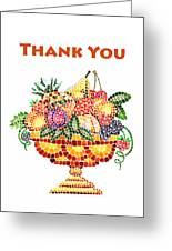 Thank You Card Fruit Vase Greeting Card