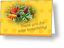 Thank You For Your Hospitality Greeting Card - Decorative Pepper Plant Greeting Card