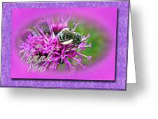 Thank You Greeting Card - Bumblebee On Ironweed Greeting Card
