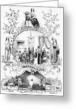 Thanksgiving, 1852 Greeting Card