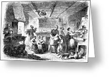 Thanksgiving, 1855 Greeting Card