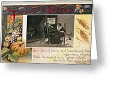 Thanksgiving Card, 1909 Greeting Card