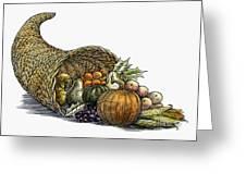 Thanksgiving: Cornucopia Greeting Card