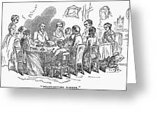 Thanksgiving Dinner, 1850 Greeting Card