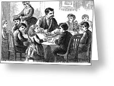 Thanksgiving Dinner, 1873 Greeting Card
