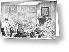 Thanskgiving Dinner, 1857 Greeting Card