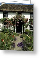 Thatched Cottage, Carlingford, Co Greeting Card