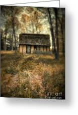 Thatched Roof Cottage In The Woods Greeting Card