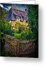 Thatched Roof Country Home Greeting Card