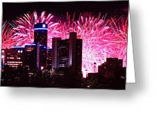 The 54th Annual Target Fireworks In Detroit Michigan Greeting Card