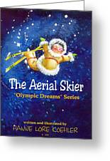 The Aerial Skier - Book Cover Greeting Card