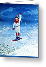 The Aerial Skier 15 Greeting Card