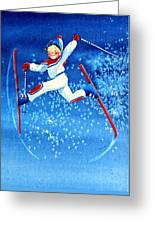 The Aerial Skier 16 Greeting Card