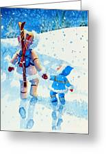 The Aerial Skier - 2 Greeting Card